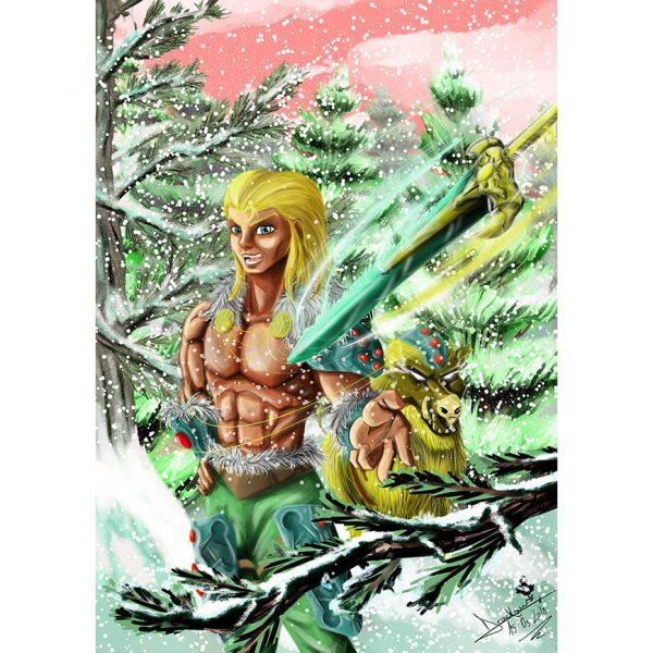 Freyr Ilustration Poster. Norse Mythology. NK WORLD