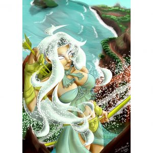 Skadi Ilustration Poster. Norse Mythology. NK WORLD