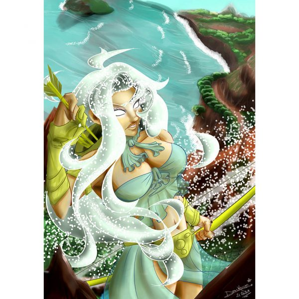 Skadi Ilustration Poster. Norse Mythology. NK WORLD