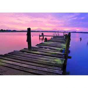 Wooden Walkway over the Lake Photo Poster. NK WORLD