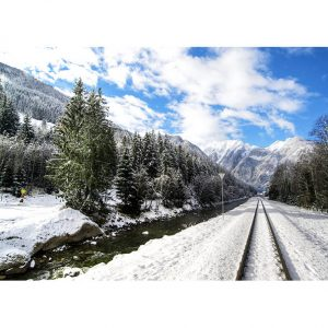 Winter Train Track Photo Poster. NK WORLD