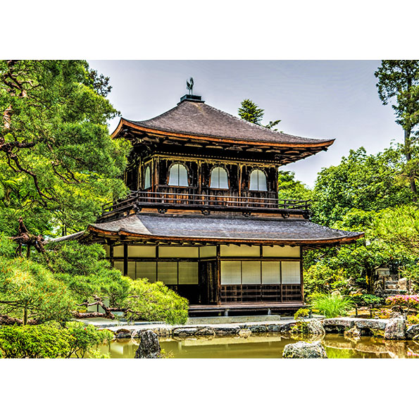 Ginkaku-Ji Temple Photo Poster. NK WORLD