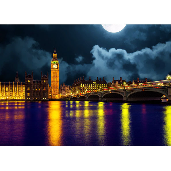 Big Ben & Westminister Bridge Photo Poster. NK WORLD