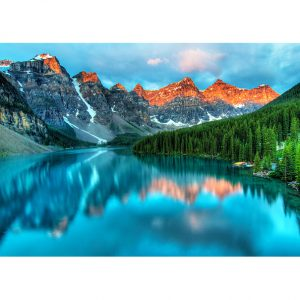 Lake in the Mountains Photo Poster. NK WORLD