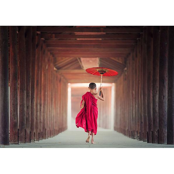 Child Monk Photo Poster. NK WORLD