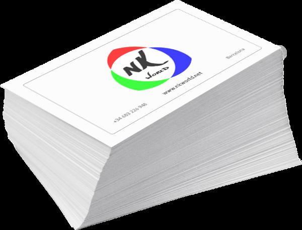 Business Cards. NK WORLD. NK Walls. Digital Print.