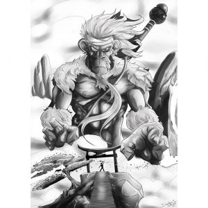 The Monkey King Ilustration. Posters. NK WORLD.