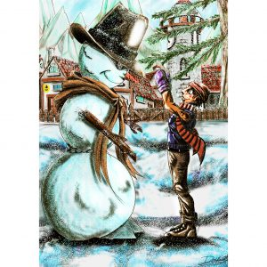 The Snowman. Ilustration. Posters. NK WORLD.