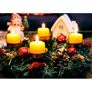 Christmas Candles. Christmas Posters and Postcards. NK WORLD.