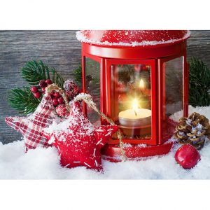 Christmas Candle. Christmas Posters and Postcards. NK WORLD.