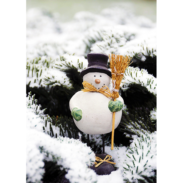 Snowman. Christmas Posters and Postcards. NK WORLD.