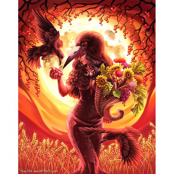 Corvus frugilegus. Illustration. Poster. Yseulta. NK WORLD.